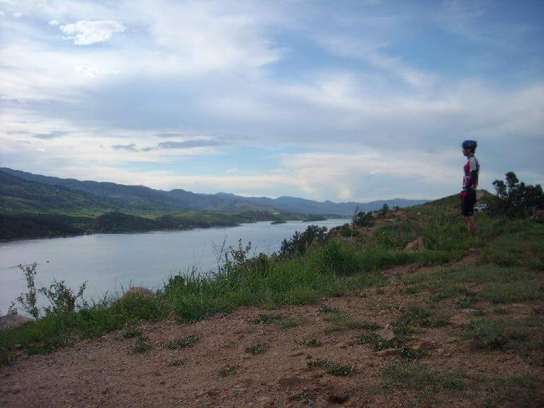 Looking out at the Horsetooth Reservoir at Rotary Park.