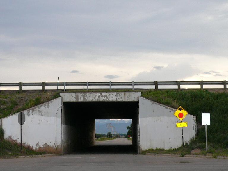 [Mile 226, 7:23 p.m.] Going under I-25.