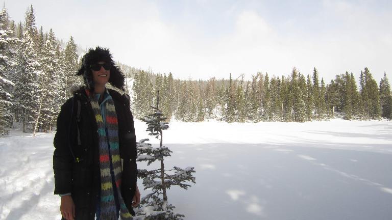 Casey at Nymph Lake.