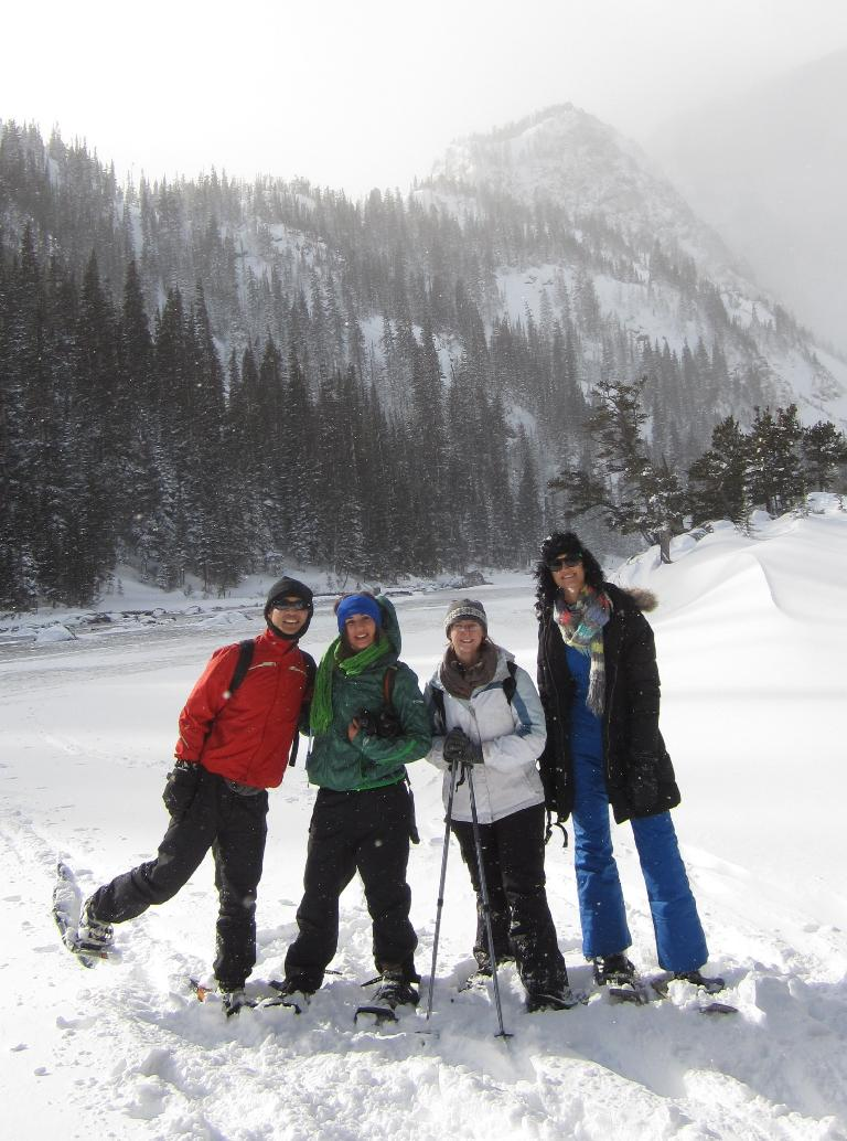 Felix, Diana, Kyla and Casey at Dream Lake, our turnaround point.