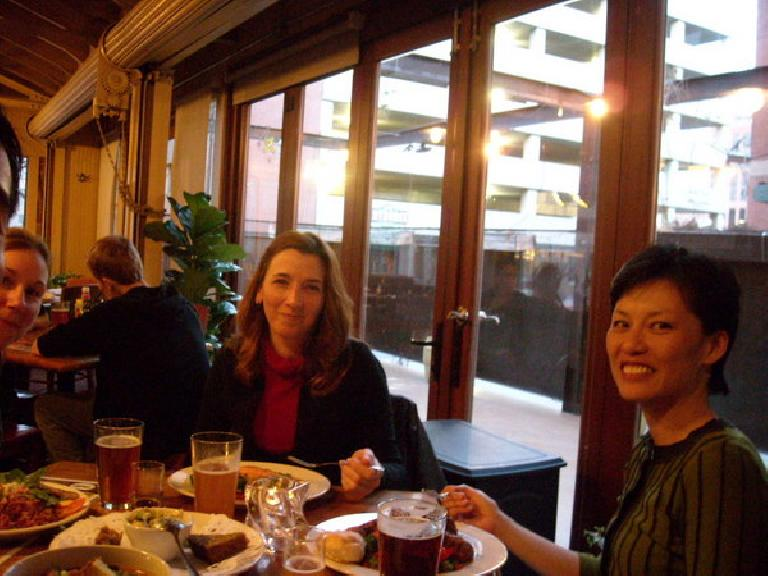 Having dinner with Lisa, Tori and Ida at the Wynkoop brewery in Denver.