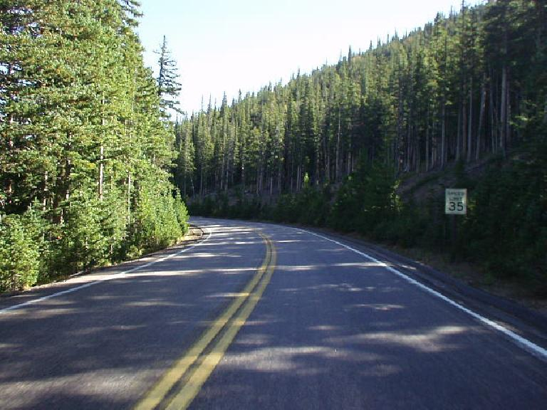 The lower parts of the park that were lined with trees makes for a splendid drive.