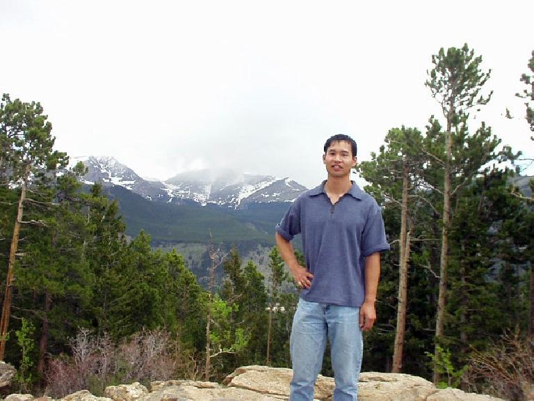 Felix Wong back at the Rocky Mountain National Park for the first time since September 2005 during the Great American Road Trip.