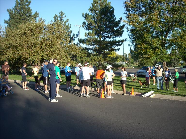 Forty-six people showed up for October's Tortoise & Hare Race.