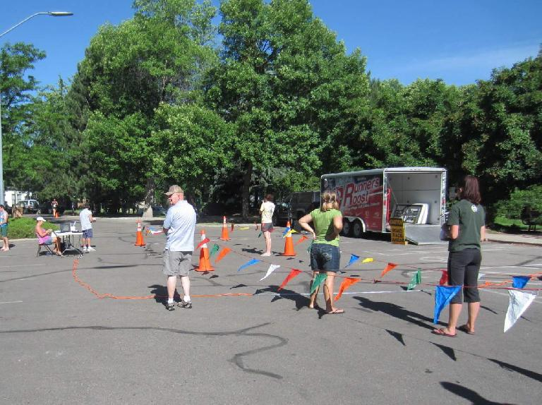 The finish area for the Run for a Child's Sake 5k.