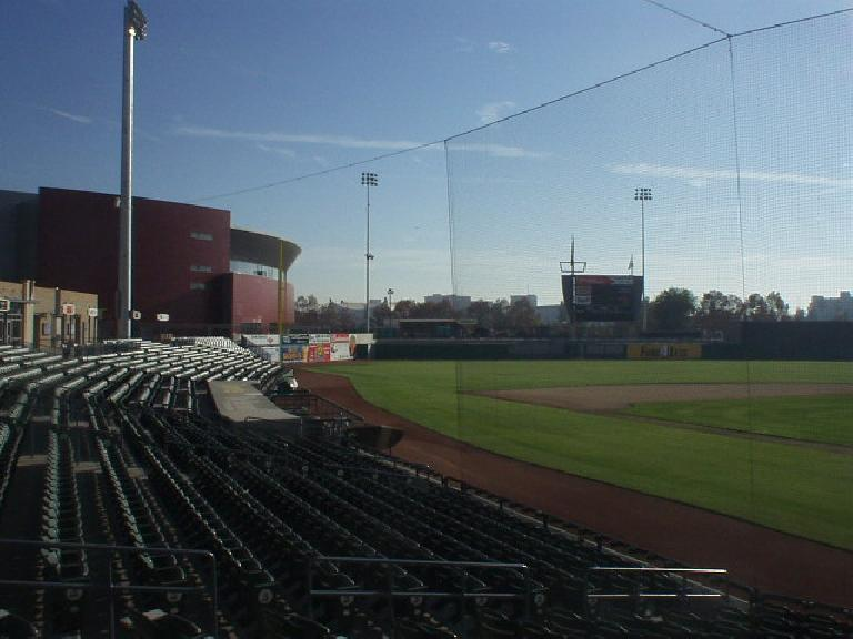 Inside the new Stockton Ballpark, where the Stockton Ports play.