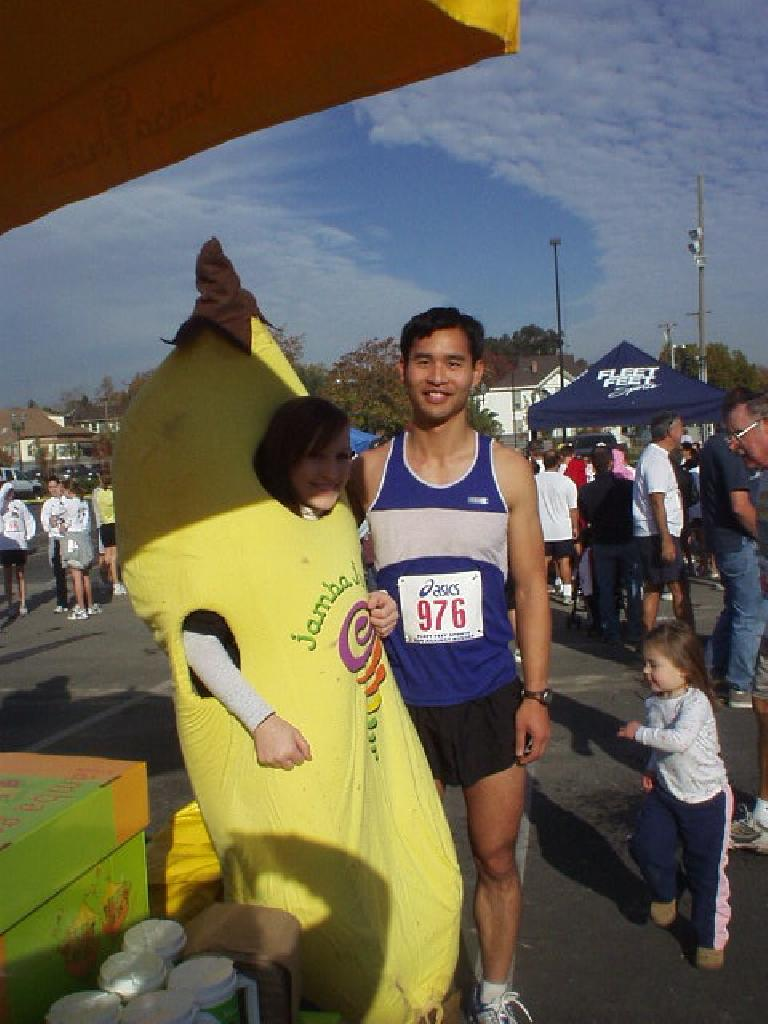 Me and the Jamba Juice banana gal.