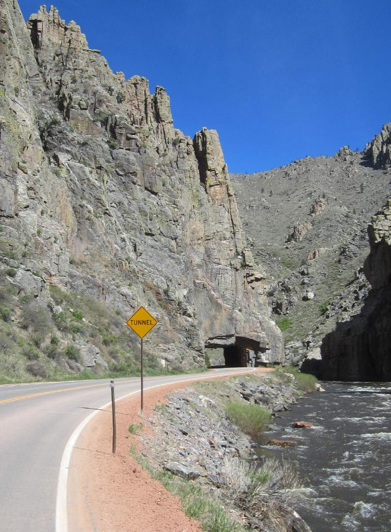 Tunnel in the Poudre Canyon