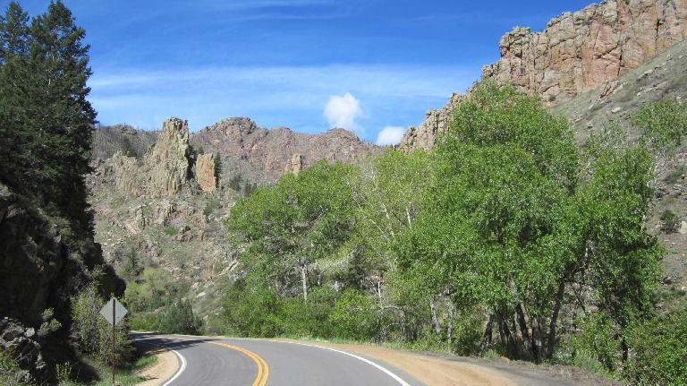 The Palace rock climbing area, Poudre Canyon