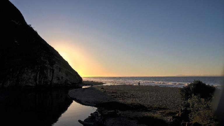 Sunrise at Arroyo Burro Beach in Santa Barbara.