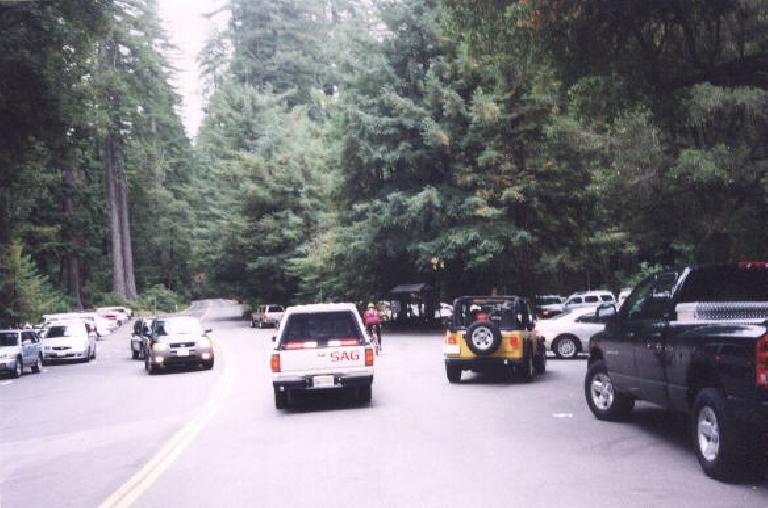 We pass right by the Big Basin State Park Headquarters, where I started my 71-mile backpacking trip just last week!