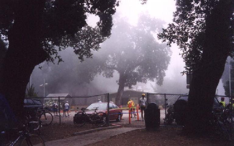 The lunchstop at Mile 65.  Note how even in the middle of the day the fog was very persistent.
