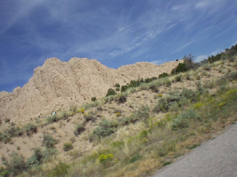 Rock formation along the highway north (I think) of Santa Fe.