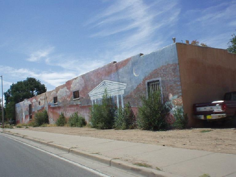 Mural on a building in Santa Fe.