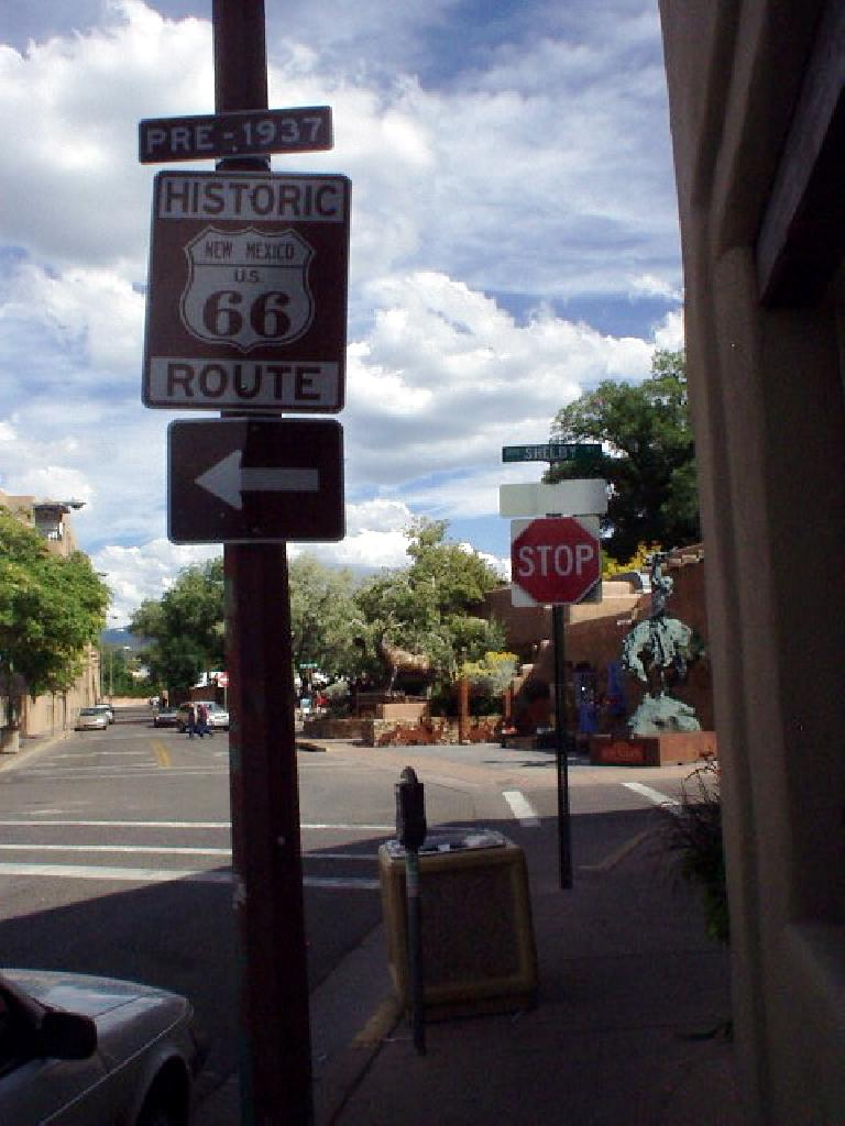 Historic Route 66 passes through town.