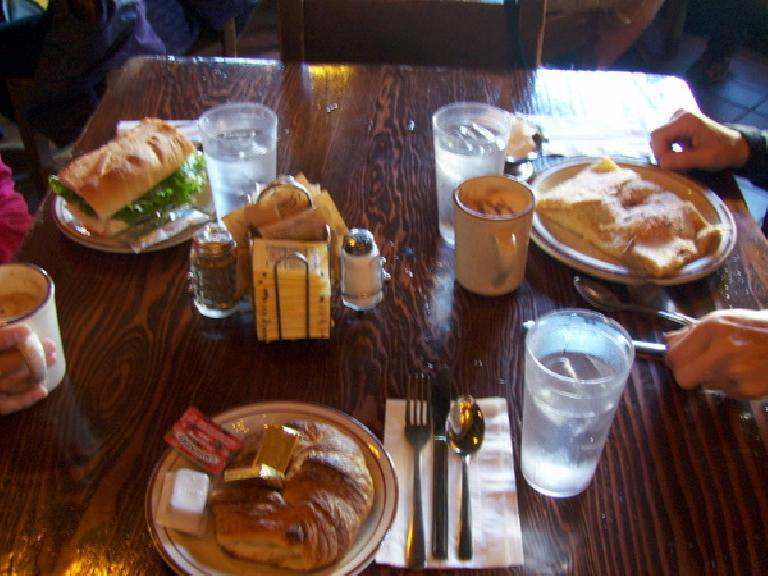 Our delicious breakfast at the creperie.
