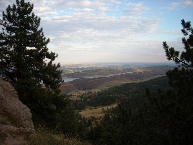 The Horsetooth Reservoir down below from the vantage point of Arthur's Rock.