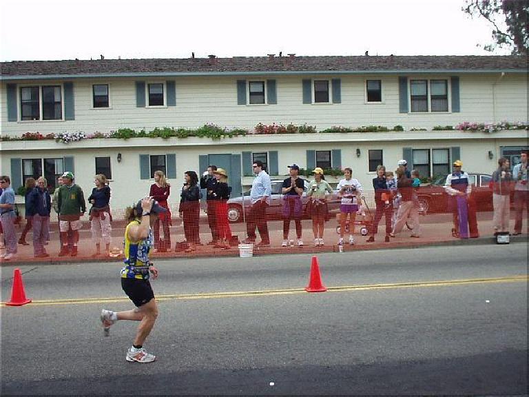 Here Sharon begins the 10k run.