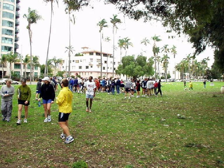 Some of the runners participating in the 35th Annual Downtown YMCA 5k Resolution Run in Balboa Park.