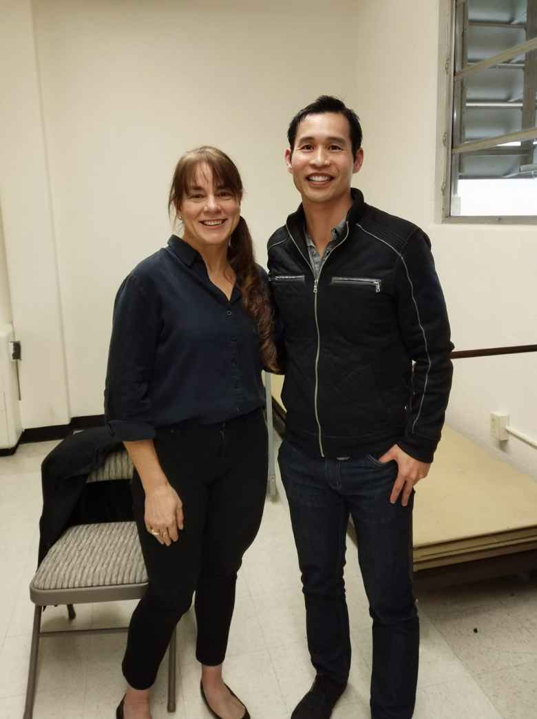 Seana Hogan and Felix Wong at a RAAM seminar in Sacramento.