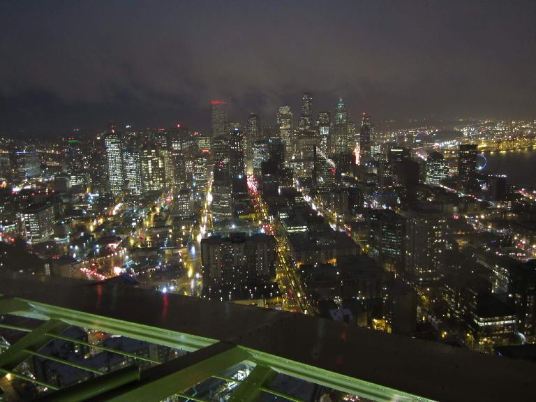 The view of Seattle to the South from the Space Needle.