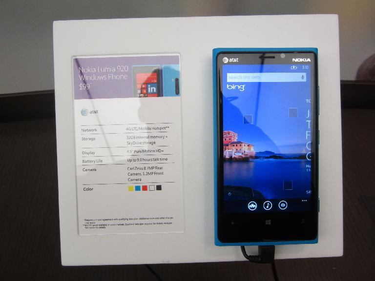 Nokia Lumia 920: possibly my next phone to replace my Lumia 900. (December 20, 2012)