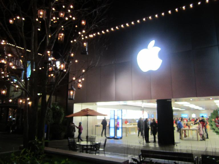 The Apple Store across the parking lot. (December 20, 2012)