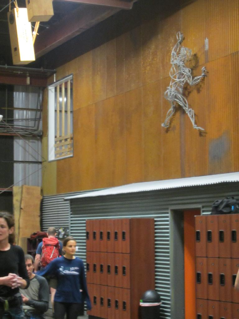 Nice climbing figure on the wall. (December 20, 2012)