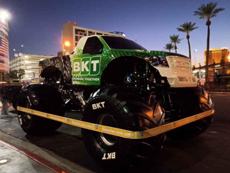 Big green truck by BKT.