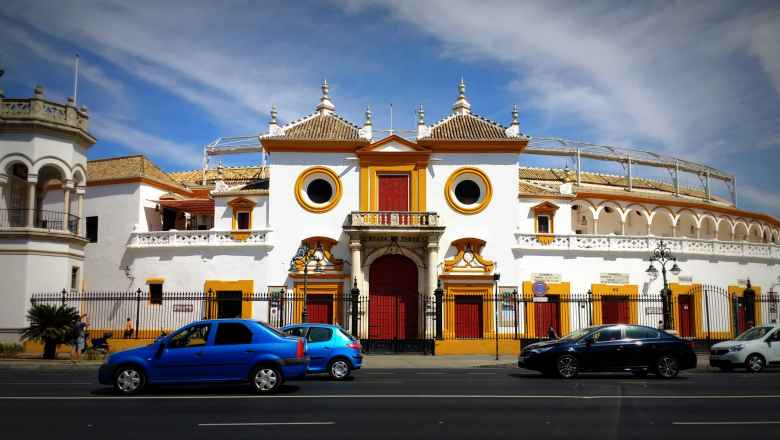 The Plaza de toros de la Real Maestranza de Caballería de Sevilla is a bull-fighting ring in Seville, Spain with a capacity of 12,000.