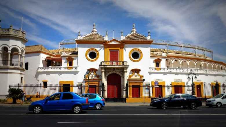The Plaza de toros de la Real Maestranza de Caballería de Sevilla is a bull-fighting ring in Seville, Spain with a capacity of 12,000.