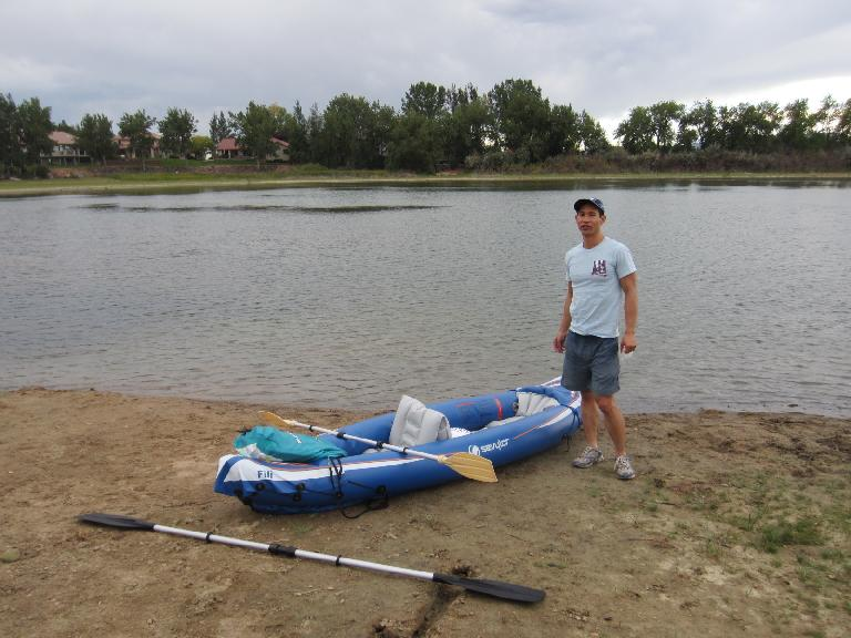 Me with the kayak. (September 3, 2012)
