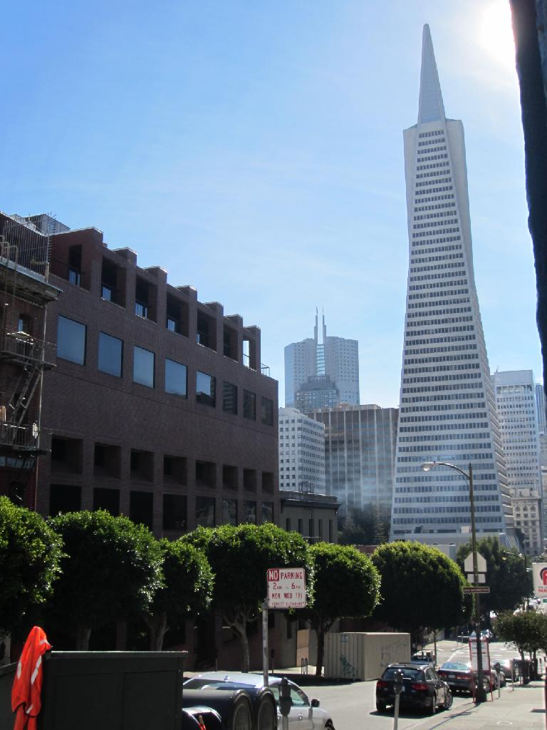 The Transamerica Pyramid.