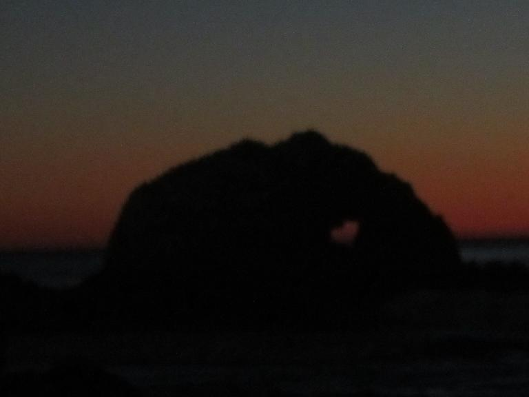 A heart in the rock.