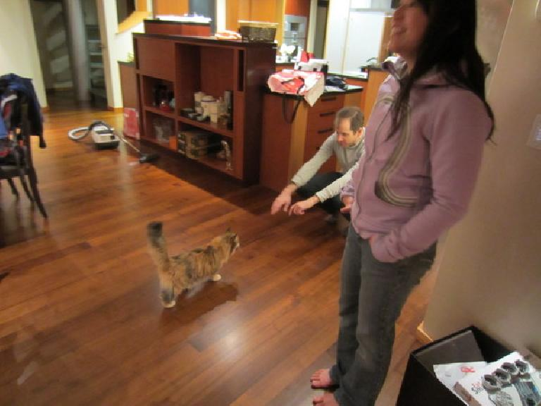 Camara going over to her daddy Bryan. (January 30, 2012)