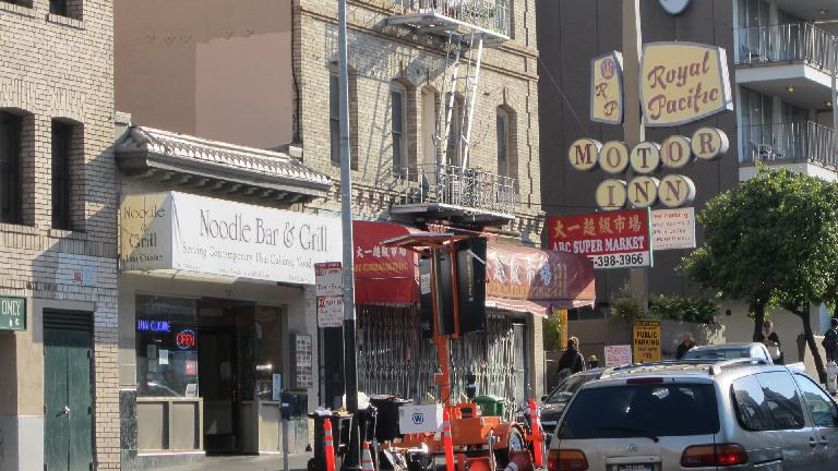 The Noodle Bar Grill, where I fetched some Tum Yum Gai.