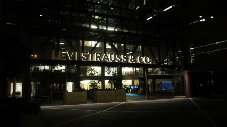 We went by the Levi Strauss & Co. building.