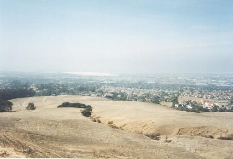 The view of the bay from Mission Peak in Fremont. (October 7, 2001)