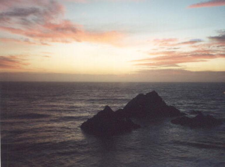 The view from the Cliff House where we had a wonderful dinne (October 9, 2001)