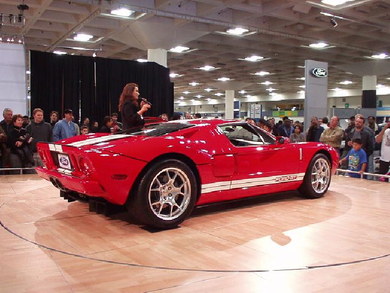 And here is the 2005 Ford GT (cost: >$100,000), which is almost a spitting image of the original!