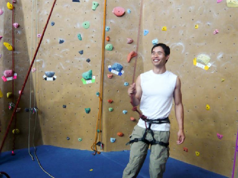Felix Wong about to climb. Photo: Alyssa Umsawasdi.