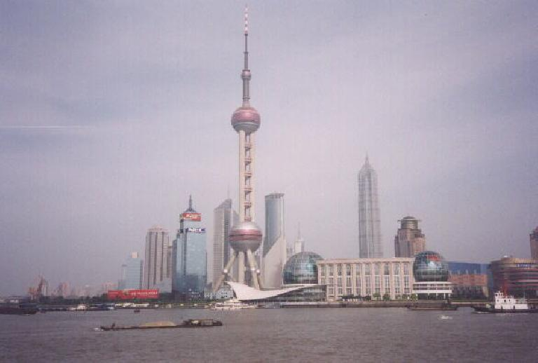 The very futuristic Bund on Shanghai.