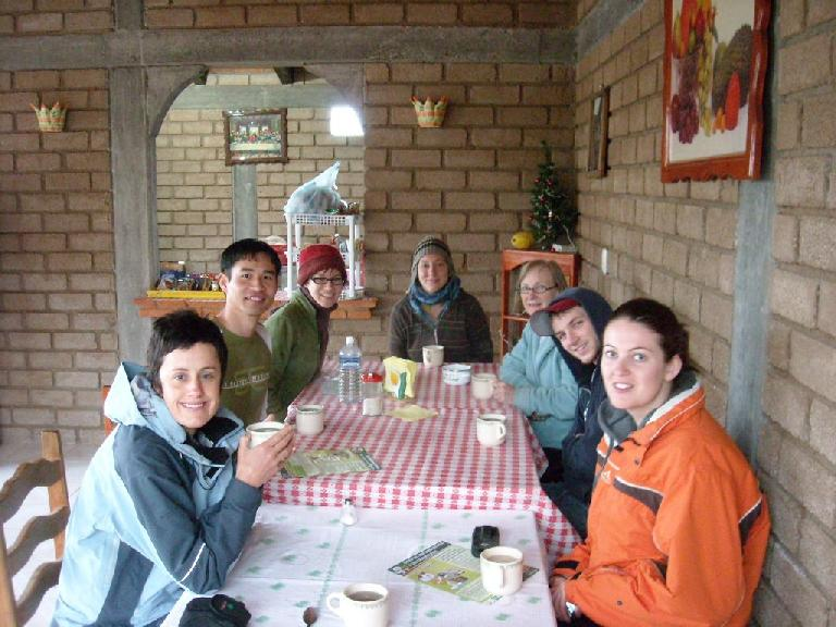 At breakfast in San Miguel Amatl
