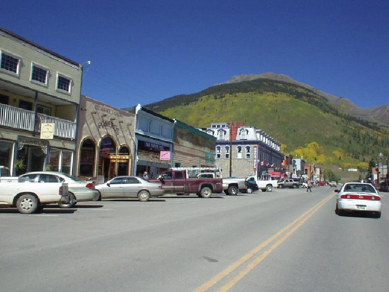 Downtown Silverton was very western.