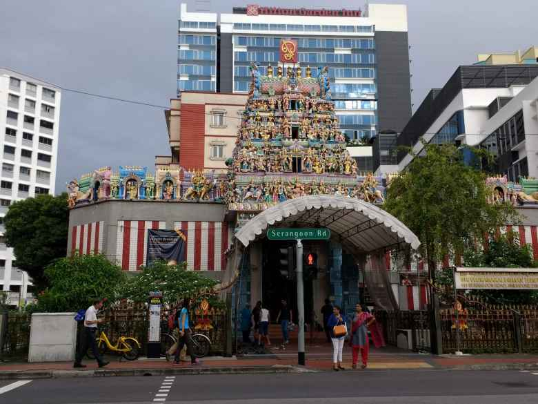 Sri Veeramakaliamman Temple in Little India in Singapore.