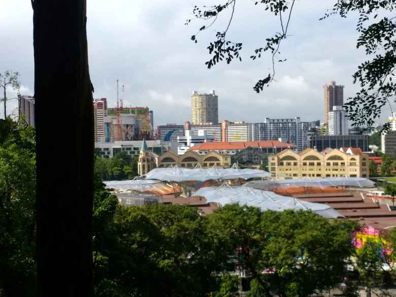 View towards Clarke Quay from Fort Canning Park, Singapore.
