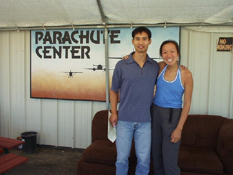 For my 30th b-day, I decided to jump out of a perfectly good airplane above 3000 meters (actually, 13,000 feet).  Kudos to Cherie who was the only one out of 50 friends who was brave enough to join me!