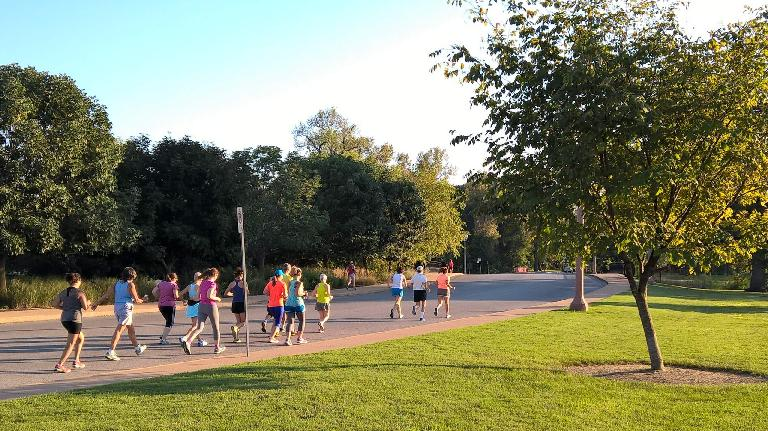 Walkers in the 2015 St. Louis September Pace Series 3k.