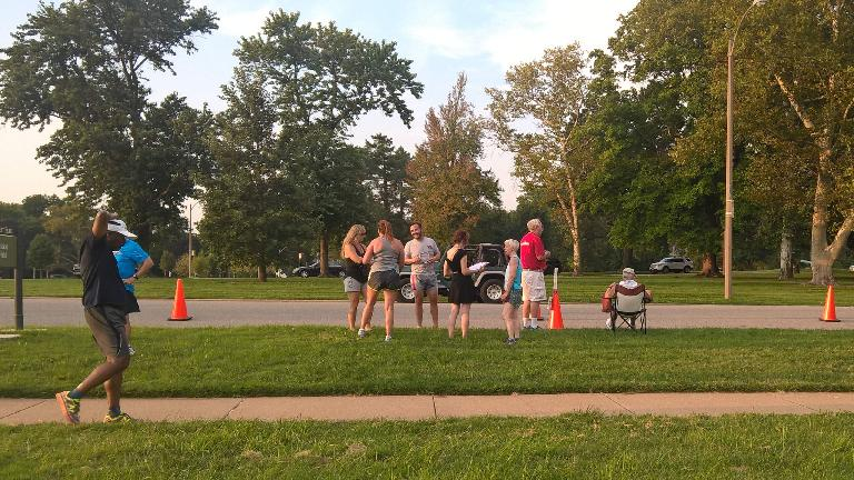 Runners at the St. Louis Track Club's September Pace Series 5k at Forest Park.