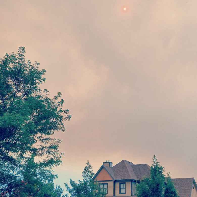 Smoke above Fort Collins from the Colorado wildfires.